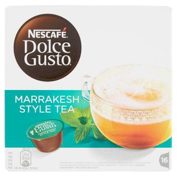 Nescafé, Dolce Gusto Marrakesh Style Tea tè verde aromatizzato alla menta 16 capsule