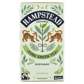 Hampstead Tea, Clean Green Organic Green Tea 20 filtri 40 g
