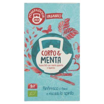 Pompadour, Organics Corpo & Menta Bio 20 filtri 30 g