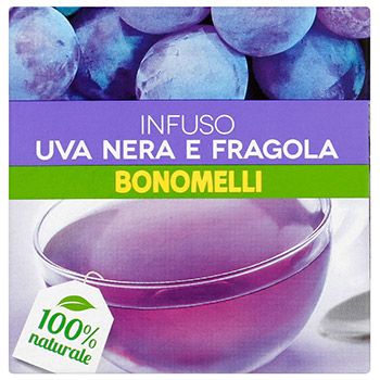 Bonomelli, Infuso uva nera e fragola 10 filtri 23 g