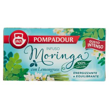 Pompadour, Infuso Moringa con lemongrass gusto Intenso 20 filtri 38 g