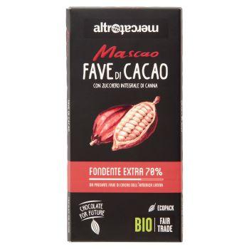 Altromercato Bio, Mascao fondente extra 70% fave di cacao 100 g