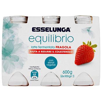 Esselunga Equilibrio, latte fermentato anticolesterolo alla fragola conf. 6x100 g