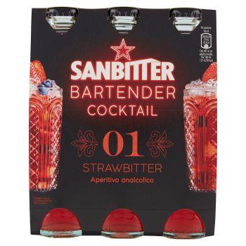 S.Pellegrino, Sanbitter, Bartender cocktail stramberry conf. 3x14 cl