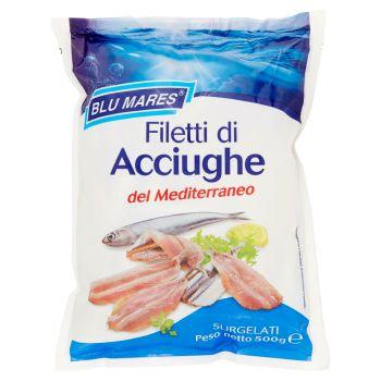 Blu Mares, filetti di acciughe del Mediterraneo surgelati 500 g