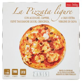 Zanini, La Pizzata ligure surgelata 360 g