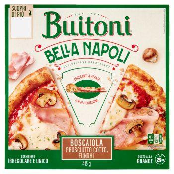 Buitoni, Bella Napoli pizza prosciutto e funghi surgelata 415 g