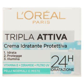 L'Oréal Paris, Tripla Attiva crema idratante protettiva pelli normali o miste 50 ml