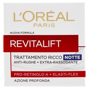 L'Oréal Paris, Revitalift trattamento ricco anti-rughe + extra-rassodante notte 50 ml