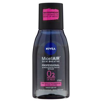 Nivea, MicellAir Skin Breathe Professional struccante occhi bifase 125 ml
