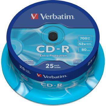 Verbatim CD-R 700MB, 80 min, 52x, 25 pezzi