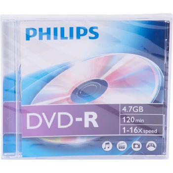 Philips DVD-R 4.7GB, 120 min, 1-16x speed, 1 pezzo