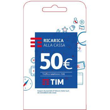 Tim Ricarica telefonica virtuale da 50 Euro
