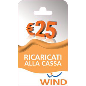 Wind Ricarica telefonica virtuale da 25 Euro