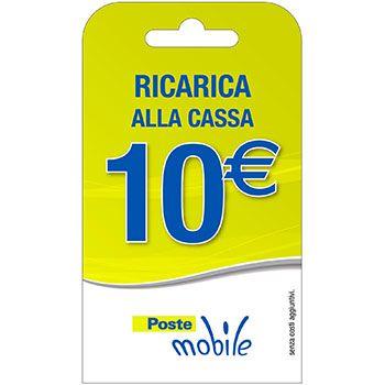 Poste Mobile Ricarica telefonica virtuale da 10 Euro