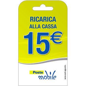 Poste Mobile Ricarica telefonica virtuale da 15 Euro