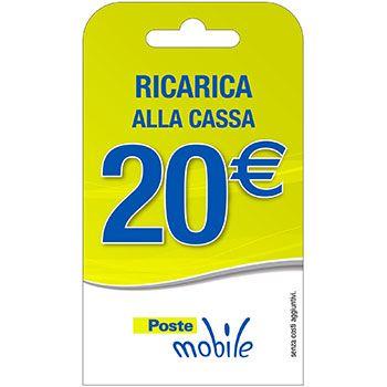 Poste Mobile Ricarica telefonica virtuale da 20 Euro