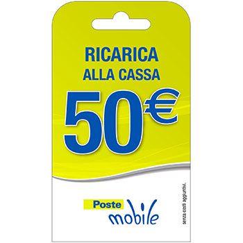 Poste Mobile Ricarica telefonica virtuale da 50 Euro