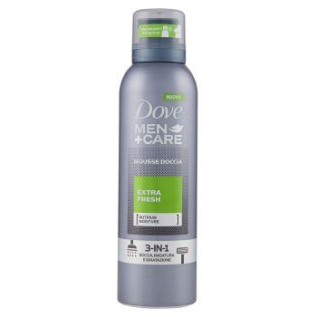 Dove, Men+Care Mousse doccia Extra Fresh 3-in1 200 ml