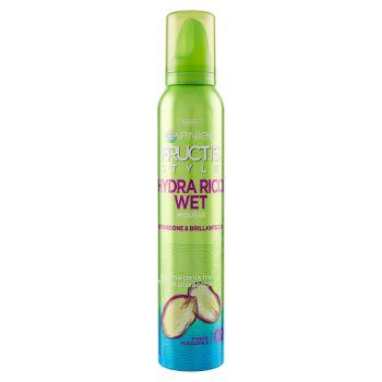 Garnier, Fructis Style Hydra-Ricci Wet Shine ravviva ricci effetto bagnato fissaggio forte mousse 150 ml
