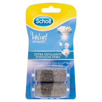 Scholl, Velvet Soft Cristalli di Diamante ricariche extra esfoliante 2 pezzi