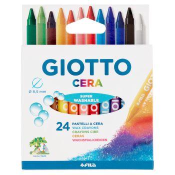 Giotto Cera Pastelli in colori lavabili, 24 pezzi