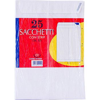 Cartiera di Varese Buste a sacchetto chiusura a strip, misura 23x33 cm, 25 pezzi