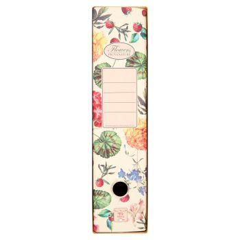 Pigna Nature Flowers Registratore con custodia in materiale riciclato, dorso 8 cm, fantasie assortite