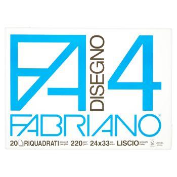 Fabriano Album da disegno F4, 20 fogli riquadrati, 24x33 cm, 200 grammi