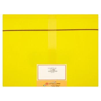 Cartiera di Varese Cartelletta a 3 lembi con elastico, colori assortiti, formato A4, 3 pezzi