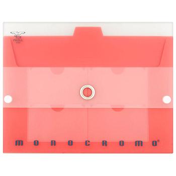 Pigna, Monocromo Portadocumenti trasparente con bottone, 5 scomparti, misura 33x24 cm