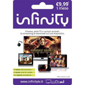 INFINITY Gift Card da 9,99 Euro per 1 mese