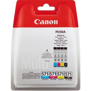 Canon Cartuccia d'inchiostro Multipack CLI-571, ciano, magenta, giallo, nero
