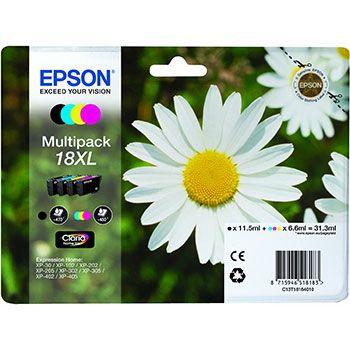 Epson Cartuccia d'inchiostro 18XL, multipack
