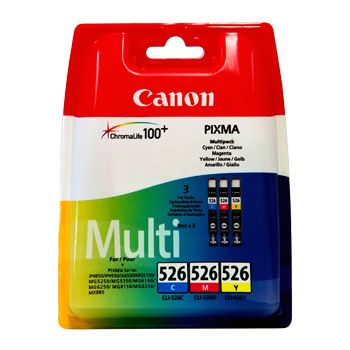 Canon Cartuccia d'inchiostro Multipack CLI-526, ciano, magenta, giallo