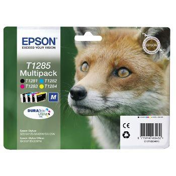 Epson Cartuccia d'inchiostro Multipack T1285 taglia M, nero, ciano, magenta, giallo