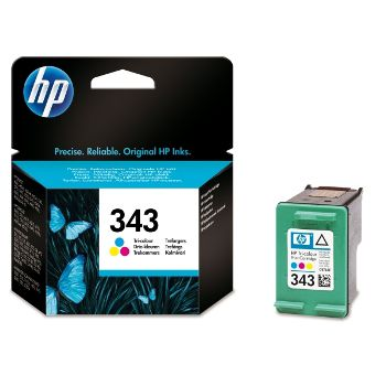 HP Cartuccia d'inchiostro Tricromia 343, ciano, magenta, giallo