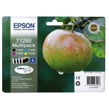 Epson Cartuccia d'inchiostro Multipack T1295 taglia L, nero, ciano, magenta, giallo