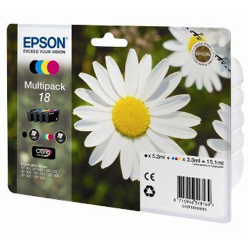 Epson Cartuccia d'inchiostro Multipack 18, nero, ciano, magenta, giallo