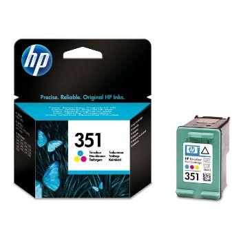 HP Cartuccia d'inchiostro Tricromia 351, ciano, magenta, giallo