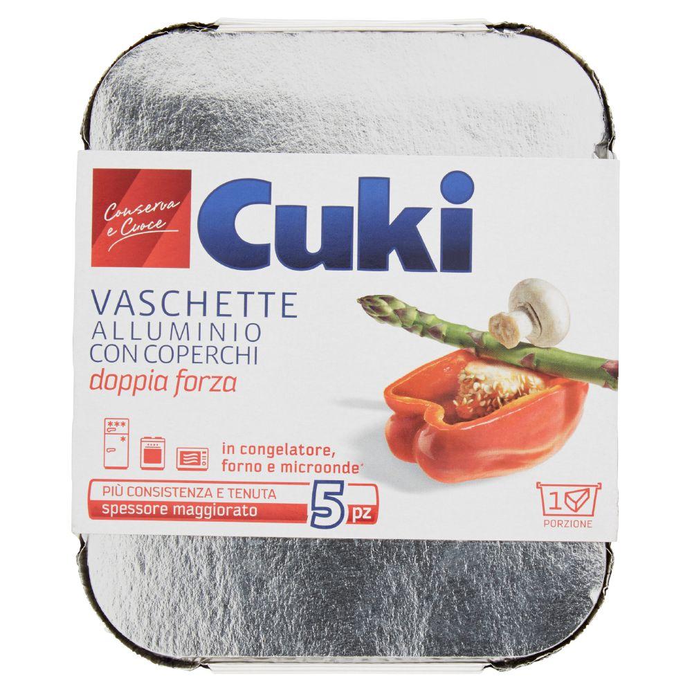 Cuki - Vaschette, Alluminio con Coperchi