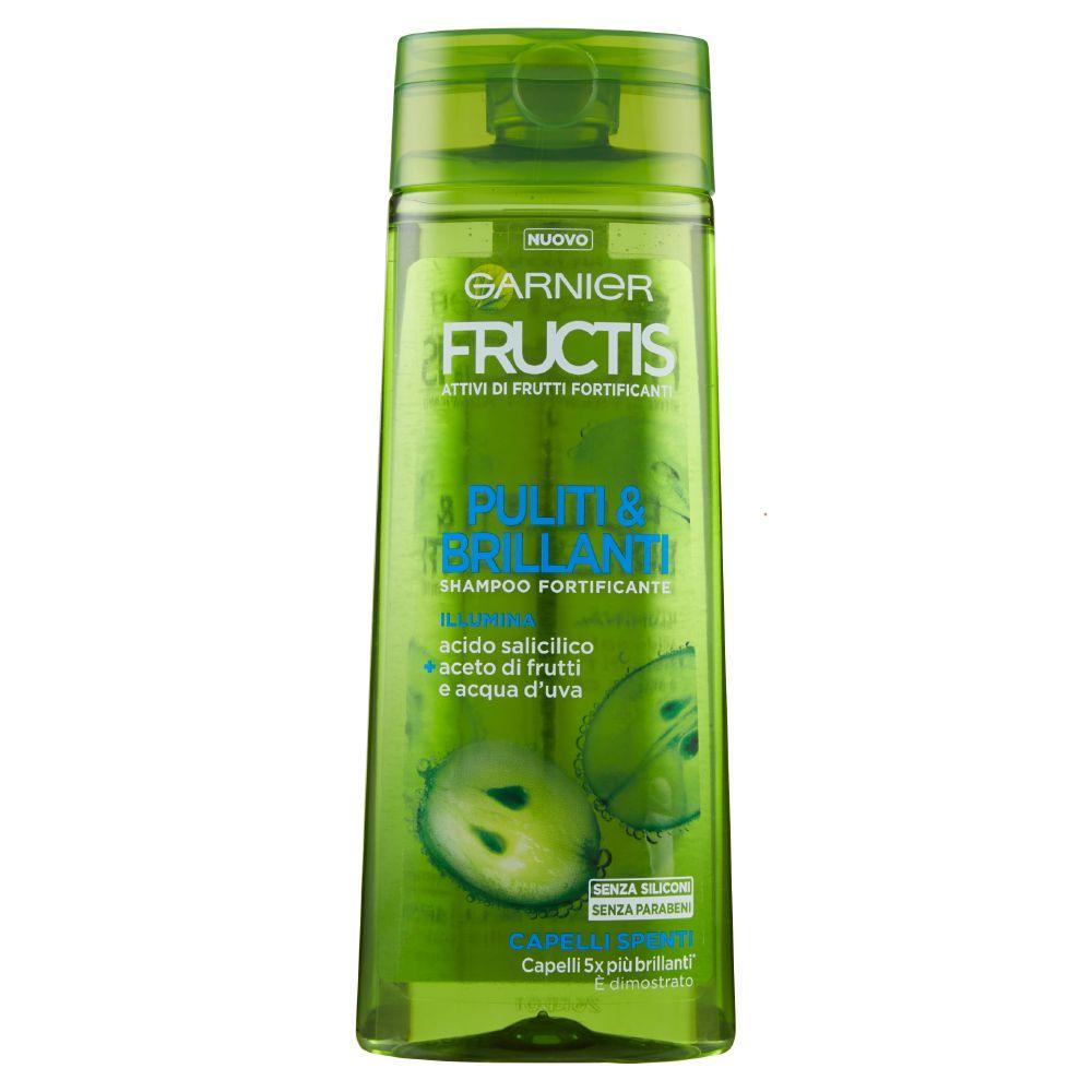 Garnier Fructis Puliti & Brillanti Shampoo per Capelli Spenti