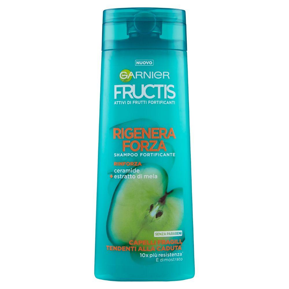 Garnier Fructis Rigenera Forza Shampoo per Capelli Fragili Tendenti alla Caduta