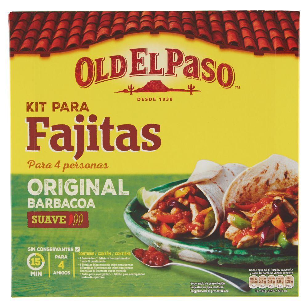 Old El Paso, kit para fajitas original barbacoa