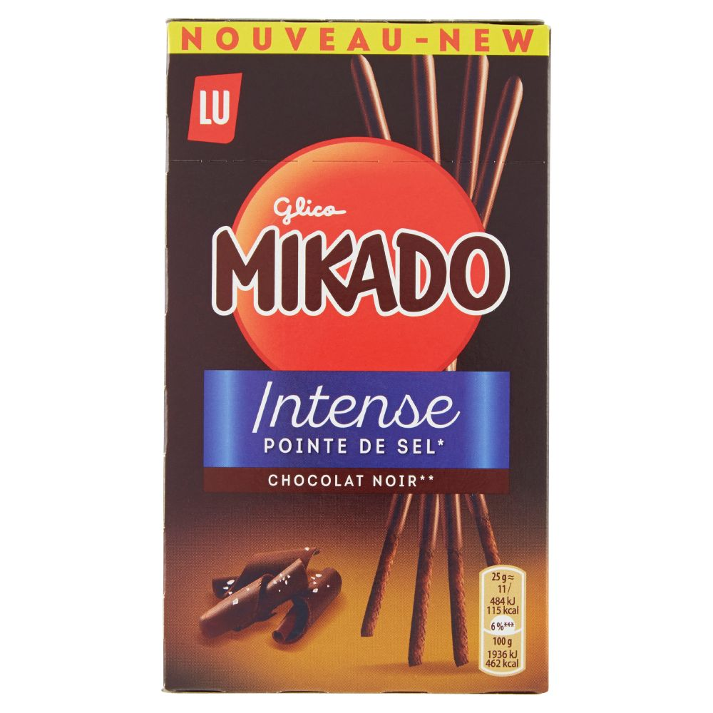 Mikado, Intense pizzico di sale cioccolato fondente