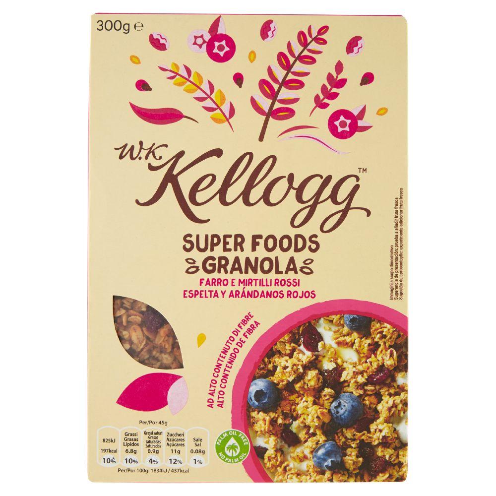W.K Kellogg Super Foods Granola Farro e Mirtilli Rossi