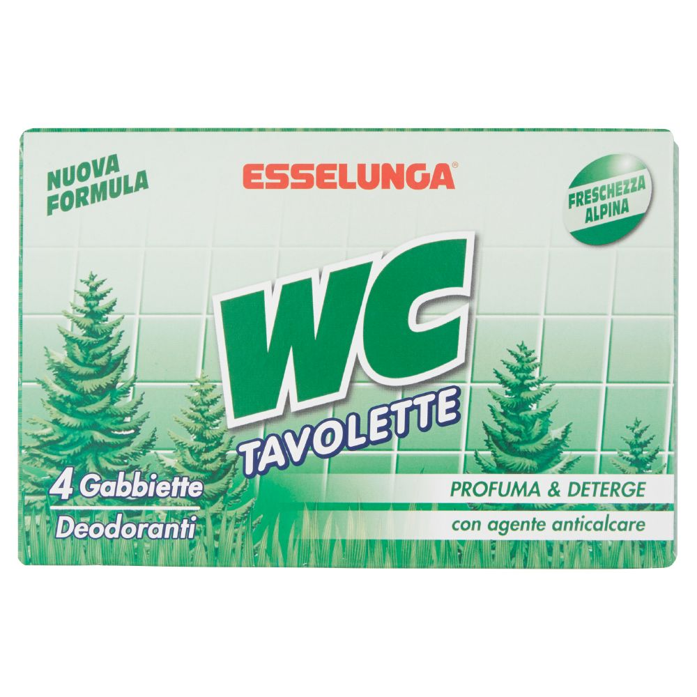 Esselunga, WC tavolette freschezza alpina
